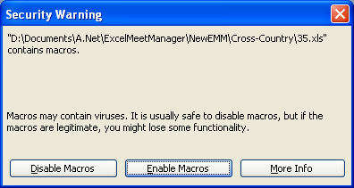 Enable macros excel meet manager xc blogs athletic community when you see the following dialog after opening the emmxc click enable macros ccuart Gallery